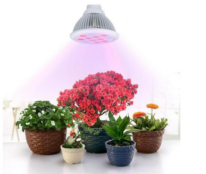24W E27 Full Spectrum Hydroponic Led Grow Light For Garden Plants And Vegetables