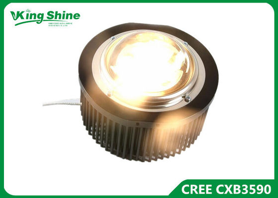Çin Plant Led Grow Light Cree , Led Grow Lamp Pre - Drilled Passive Heatsink Tedarikçi